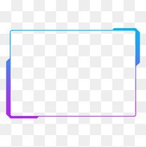 蓝紫色渐变发光现代几何方形科技边框