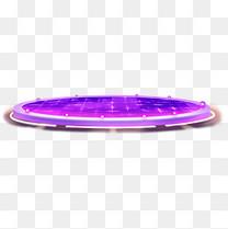 紫色时尚科技霓虹灯光舞台产品展示台