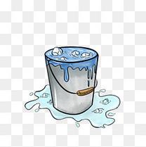 手绘冰桶挑战水桶冰块