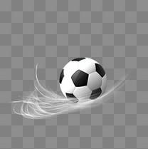 白色光线世界杯足球素材