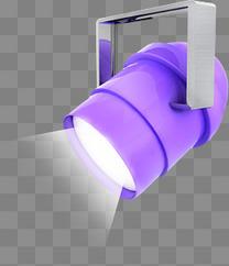 618紫色舞台立体铁架灯c4d可编辑