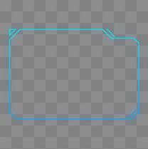 蓝绿渐变色科技感外发光几何方形方形边框