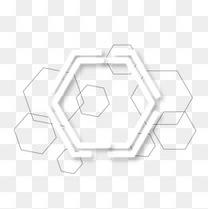 几何科技六边形边框矢量