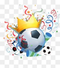 俄罗斯世界杯足球赛创意足球插画
