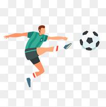足球运动员卡通世界杯