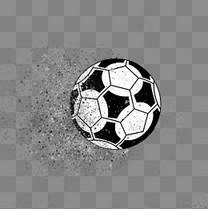 足球黑白大气时尚世界杯