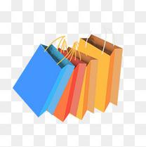 618彩色购物袋