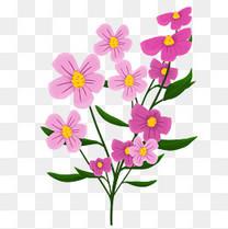 唯美手绘粉色花瓣