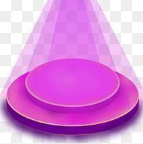 水彩紫色创意灯光舞台
