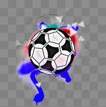 蓝色创意足球世界杯