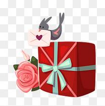 亲吻情人节玫瑰花礼盒