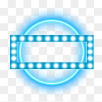 618边框蓝色光霓虹灯光荧光灯