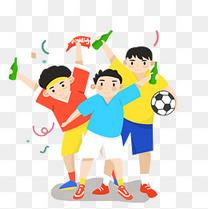 卡通俄罗斯世界杯装饰素材