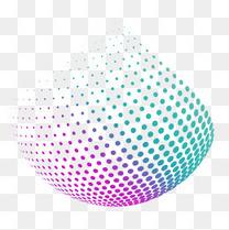 科技彩色密集圆点图