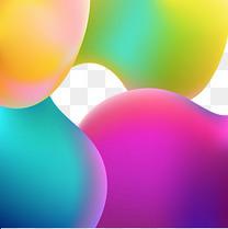 流体渐变彩色不规则图形