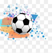 世界杯足球手绘炫酷矢量图