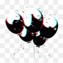 气球抖音风故障风