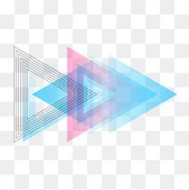 618购物商城页面三角形装饰免扣素材