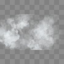 云山雾罩白烟手绘插画psd