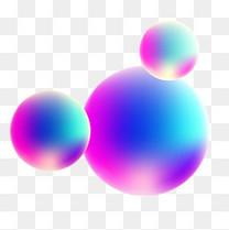 618彩色球流体渐变C4D彩色球