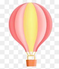 梦幻卡通热气球设计