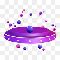 618紫色音响舞台促销装饰小元素多边形c4d