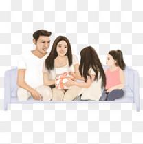 欢乐家庭矢量元素