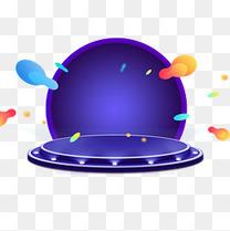 舞台促销装饰彩色球体小元素多边形c4d