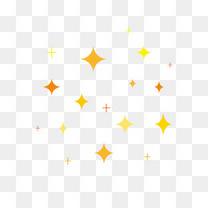 四边形多彩星星元素