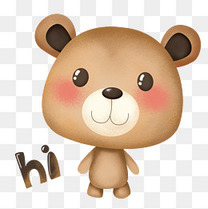 萌熊布偶卡通主题表情包之打招呼嗨hi