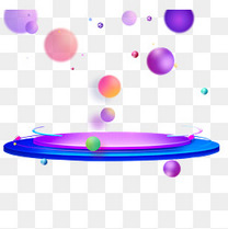电商舞台促销装饰彩色球体小元素多边形c4d