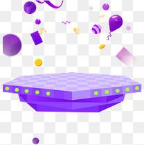 电商促销装饰彩色球体小元素多边形c4d舞台