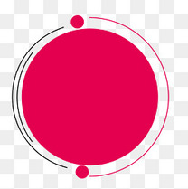 手绘红色装饰几何图形