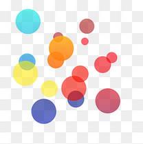 手绘彩色漂浮圆形装饰