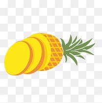 卡通手绘水果菠萝插画