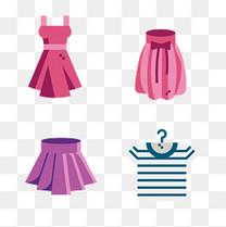 美丽女士服装裙子免扣素材