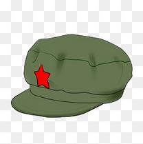 解放军帽革命物件插画