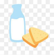 牛奶面包片png