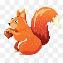 立秋啃松子的小松鼠