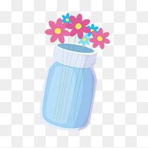 小花瓶和花png