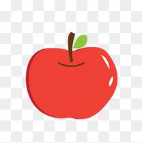 卡通手绘矢量红苹果