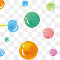 夏日五彩的透明泡泡