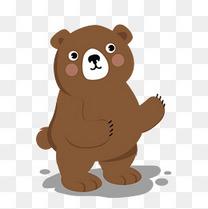 可爱的棕色小熊矢量免抠图
