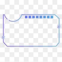 蓝紫色渐变科技感棱角变形边框