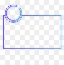 蓝紫色渐变科技感组合边框