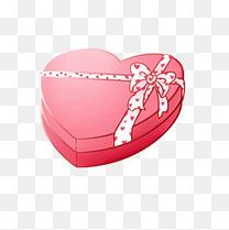 七夕情人节装饰礼品爱心礼物盒免费下载