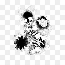 中国风抽象艺术水墨花