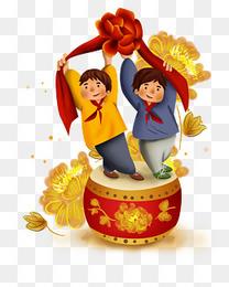 学生庆祝十一国庆节表演