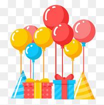 节日庆祝装饰气球礼物盒