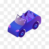 2.5d光感叠加汽车矢量素材